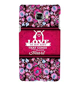 Love Is An Art Cute Fashion 3D Hard Polycarbonate Designer Back Case Cover for Samsung Galaxy C7