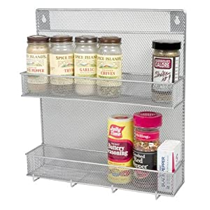 Design Ideas Silver Spice Rack by Design Ideas