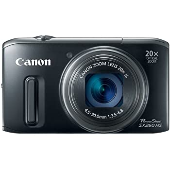 Set A Shopping Price Drop Alert For Canon PowerShot SX260 HS 12.1 MP CMOS Digital Camera with 20x Image Stabilized Zoom 25mm Wide-Angle Lens and 1080p Full-HD Video (Black)