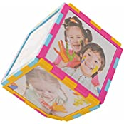 Nihal Plastic Magic Cube Rotating Photo Frame (16 Cm X 16 Cm X 16 Cm)