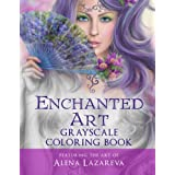 Enchanted Art Grayscale Coloring Book: For Grown-Ups, Adult Relaxation