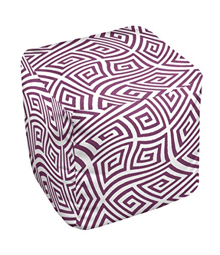 E by design FG-N9-Purple-13 Geometric Pouf