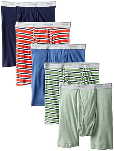 Fruit of the Loom Men's 5-Pack No Ride Up Boxer Brief - Colors May Vary