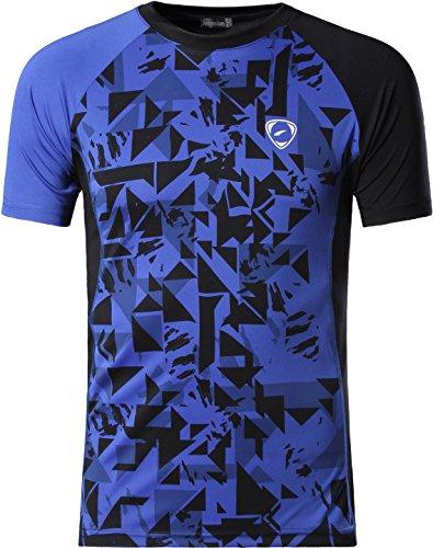 Jeansian Uomo Asciugatura Rapida Sportivo Casuale Slim Sports Fashion T-Shirts Maglia Vest LSL193 Blue S