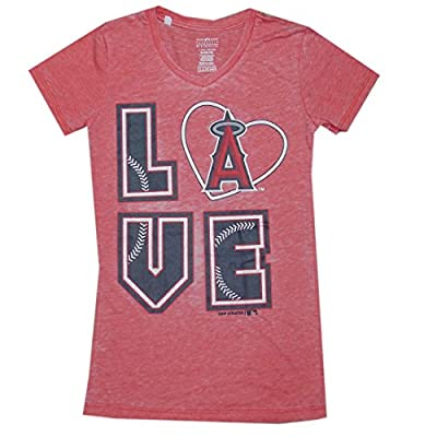 MLB Girls Team Logo Athletic T-Shirt (Vintage Look) - LOS ANGELES ANGELS