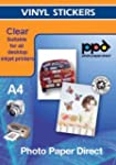A4 Self Adhesive Clear Sticker Paper...