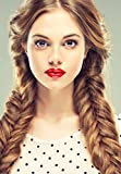 Beauty-Wig-World-19-inches-50cm130g-Synthetic-Long-Wavy-Clip-inon-Braided-Rope-Hair-Chignon-Drawstring-Braid-Fishtail-Plait-Ponytail