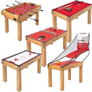 Table de jeux 5 en 1 basket unisexe u play jeux et jouets - Table multi jeux 5 en 1 ...
