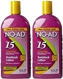 No AD Sunblock Lotion SPF 15-16 oz, 2 pk