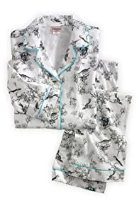 BedHead Birds Toile Classic Stretch USA made Pajama Set