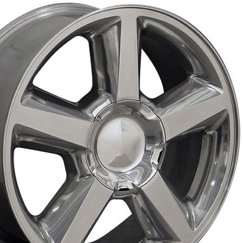 20x8.5 Wheels Fit GM Truck/SUV - Chevy Tahoe Style Polished Rims - SET (Chevy Silverado Rims 20 compare prices)