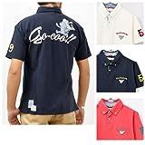 (悟空本舗)GO-COO 半袖 ポロシャツ ボタンダウン 鹿の子リメイク風 おサルさん メンズ GT-68114