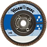 Weiler Tiger Abrasive Flap Disc, Type 29, Threaded Hole, Phenolic Backing, Zirconia Alumina