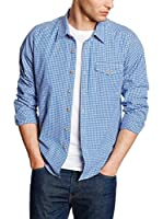 Cross Jeans Camisa Hombre (Azul)