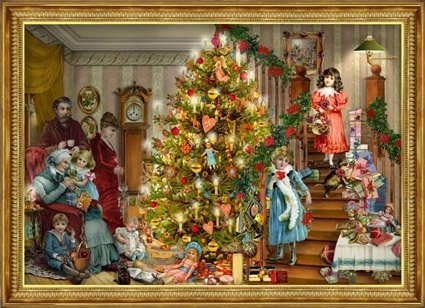 Victorian Christmas Advent Calendar: Christmas Morning with the Family