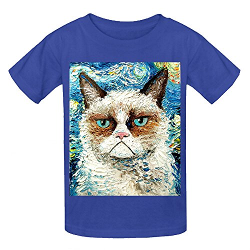 Grumpy Cat Is Still Grumpy Unisex Crew Neck Cotton T Shirt Blue (Carters Space Dogs compare prices)