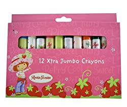 Strawberry Shortcake Crayon - 12pcs Extra Jumbo Crayons [Toy]