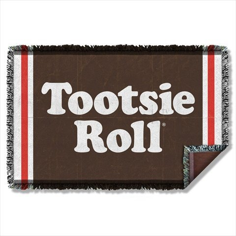 TOOTSIE ROLL WRAPPER Sublimation Woven Throw