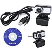 Docooler USB 2.0 50.0M HD Webcam Camera Web Cam With MIC For Computer Desktop PC Laptop Silver Silver