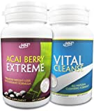 Acai Berry Extreme / Vital Cleanse Colon Cleanse Set - Powerful Weight Loss Diet Pill Combination