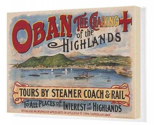 Canvas Print Of Poster For Oban, Scotland front-620210