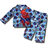 "Spider-man ""Swingin Spidey"" flannel, coat-style pajamas for toddler boys"