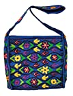 Bohemian Wool Embroidered Flowers Square Crossbody Shoulder Bag