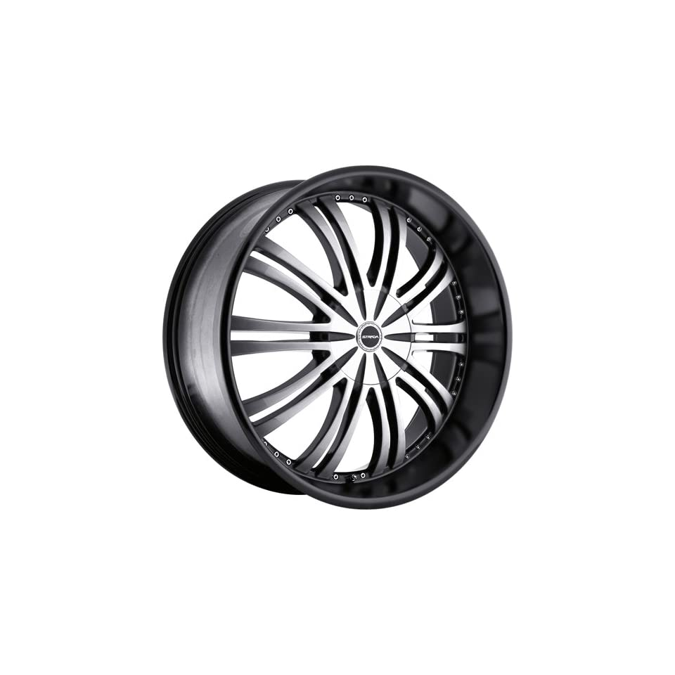 Strada Venti 24 Black Wheel / Rim 5x4.5 & 5x120 with a 40mm Offset and a 72.6 Hub Bore. Partnumber S10450140BM