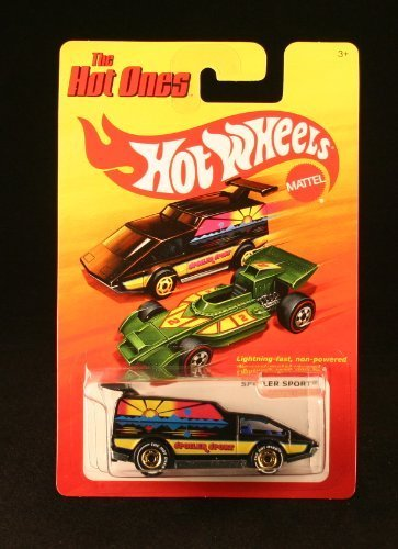 "SPOILER SPORT (CHASE PIECE - LIMITED EDITION ""THE HOT ONES"" TIRES) * The Hot Ones * 2011 Release of the 80's Classic Series - 1:64 Scale Throw Back HOT WHEELS Die-Cast Vehicle"