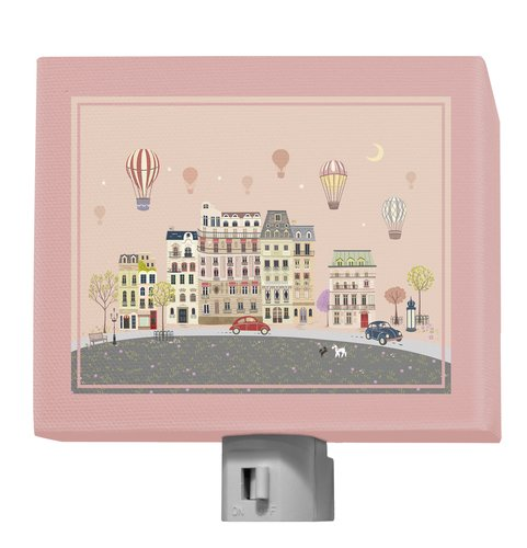 "Oopsy Daisy Sweet Street at Dusk Night Light, Pink Sweet Street at Dusk, 5"" x 4"""