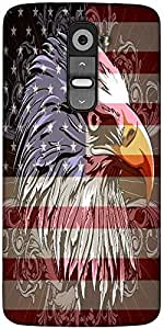 Snoogg 4Th Of July Vector Illustration Designer Protective Back Case Cover For LG G2