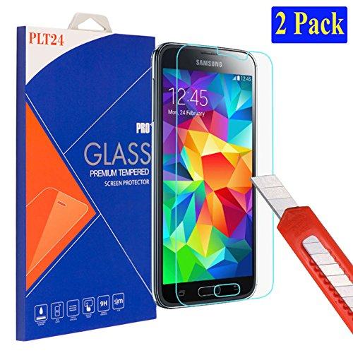 2x Samsung Galaxy S5 / S5 neo plt24 Ultra-Klar Glasfolie...