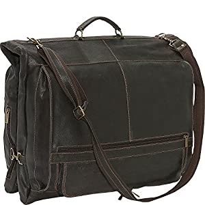 David King & Co. Distressed Leather Garment Bag by David King & Co.