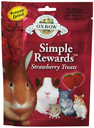 Oxbow SIMPLE REWARDS STRAWBERRY Small Animal Treat 0.5 oz