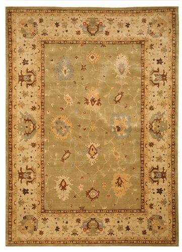 EORC Wool Karabagh Bay Leaf/Ivory Area Rug 5' 3 x 7' 6