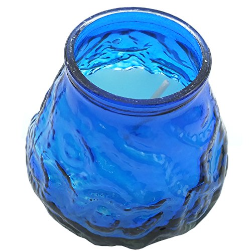 Citronella Candle In Glass Jar - Perfect For Outdoor Use (1, Blue)