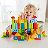 Hape - Solid Beech Stacking Blocks with Carrying Sack (Amazon Exclusive)