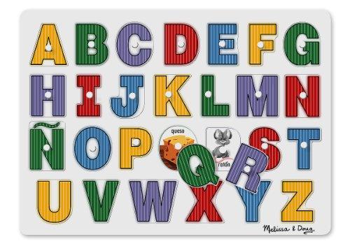 Melissa & Doug See-Inside Spanish Alphabet Peg Puzzle