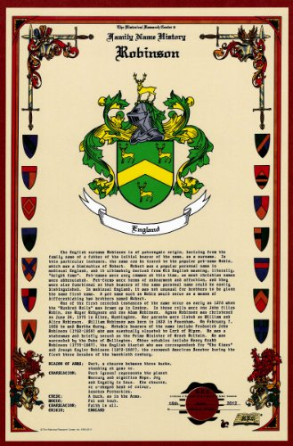 Robinson Coat Of Arms/Crest And Family Name History, Meaning & Origin Plus Genealogy/Family Tree Research Aid To Help Find Clues To Ancestry, Roots, Namesakes And Ancestors Plus Many Other Surnames At The Historical Research Center Store front-759776