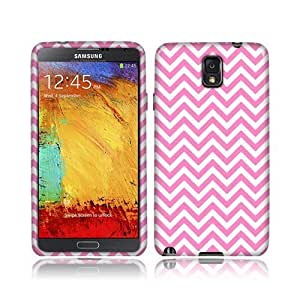 NextKin Samsung Galaxy Note 3 III N9005 N9000 Flexible Slim Silicone TPU Skin Gel Soft Protector Cover Case - Pink Mini Chevron