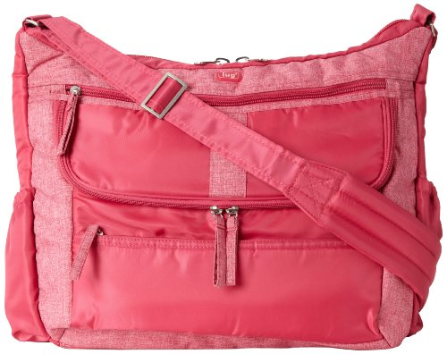 Lug Hula Hoop Carry-All Messenger, Rose Pink, One Size