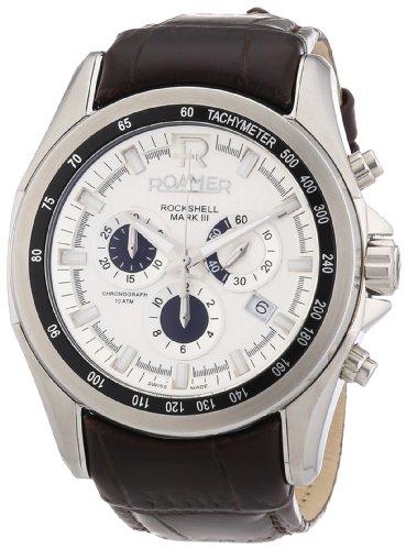 Roamer Men's Quartz Watch ROCKSHELL CHRONO 220837 SL1 with Leather Strap