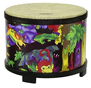 Remo Kids Percussion, Floor Tom, 10 Diameter with Mallet, Rain Forest Fabric