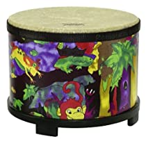 Remo Kids Percussion Floor Tom 10 Diameter with Mallet Rain Forest Fabric