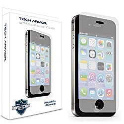 Tech Armor Ballistic Glass Screen Protector with Anti-Fingerprint Coating for Apple iPhone 4S/4