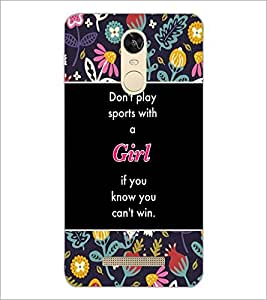 PrintDhaba Quote D-3154 Back Case Cover for XIAOMI REDMI NOTE 3 PRO (Multi-Coloured)