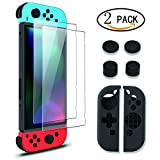 Screen Protector for Nintendo Switch,[2 Pack][Japan Agc Glass]Wellead Screen Guard Anti-scratch for Nintendo Switch
