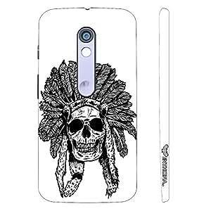 Motorola Moto X Play Red Indian Skull designer mobile hard shell case by Enthopia