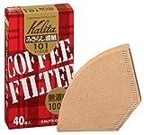 Kalita コーヒーフィルター みさらし101濾紙 1~2人用 40枚入り 「10パックセット」