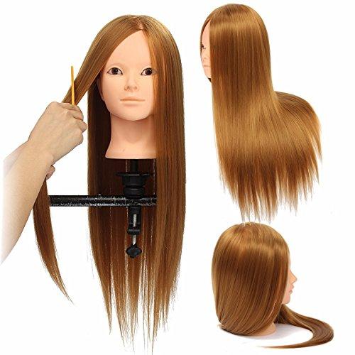 LuckyFine 24'' Golden Hairdressing Makeup Ausbildungspraxis Head Mannequin Doll (Cosmetic Mannequin Head compare prices)